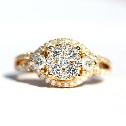 Billie Cluster White Diamond Ring - Exclusive Diamond Co