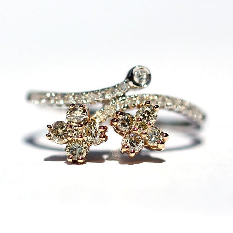 Emily Yellow & White Diamond Ring - Exclusive Diamond Co