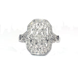 Carley Filligree White Diamond Ring - Exclusive Diamond Co