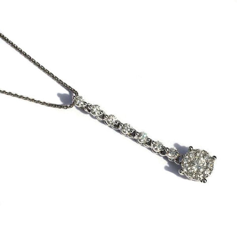 Harley Drop White Diamond Pendant - Exclusive Diamond Co