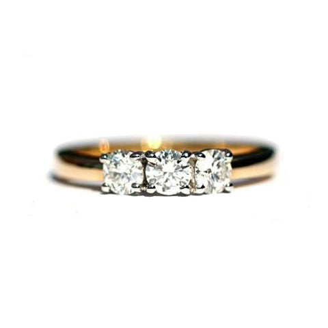 Anson Bespoke 3 Stone Diamond Ring - Exclusive Diamond Co