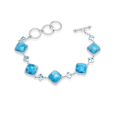 Savannah Larimar & Blue Topaz Bracelet - Exclusive Diamond Co