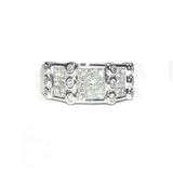 Roberta Framed White Diamond Ring - Exclusive Diamond Co