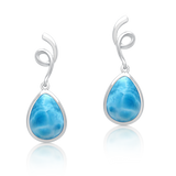 Poppy Rose Larimar Drop Earrings - Exclusive Diamond Co