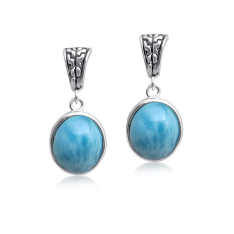 Mishka Larimar Drop Earrings - Exclusive Diamond Co