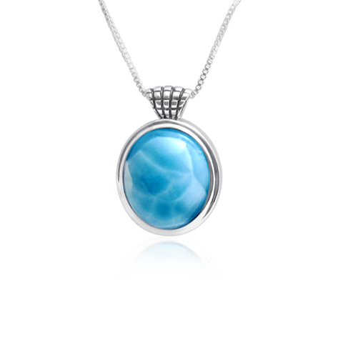 Astara Checkered Larimar Pendant - Exclusive Diamond Co