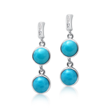 Isla Larimar & White Topaz Earrings - Exclusive Diamond Co