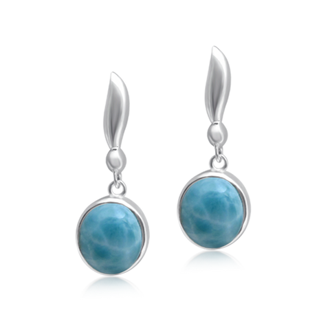 London Larimar Drop Earrings - Exclusive Diamond Co