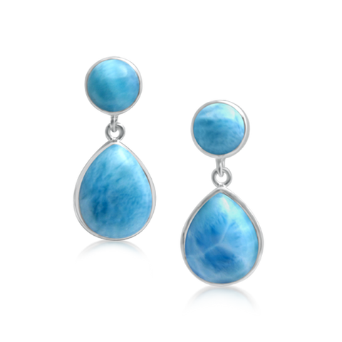 Adeline Larimar Simple Drop Earrrings - Exclusive Diamond Co