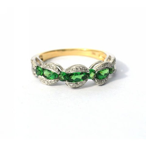Melissa Green Garnet & Diamond Ring - Exclusive Diamond Co
