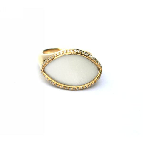 Phoebe White Agate & Diamond Ring - Exclusive Diamond Co