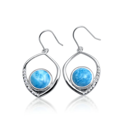 Cobi Freeform Larimar Drop Earrings - Exclusive Diamond Co