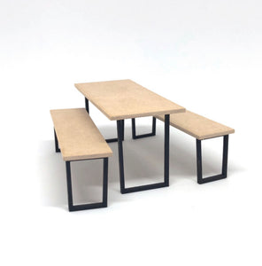 1:12 Modern DIY Flat Kit Dining Table