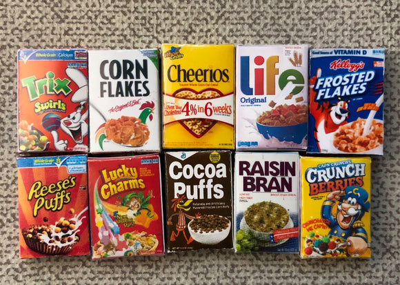 Miniature Cereal Boxes