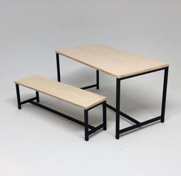 1:12 Modern Table w/Bench DIY Kit