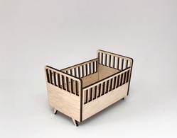 1:12 Modern Baby Crib DIY Kit