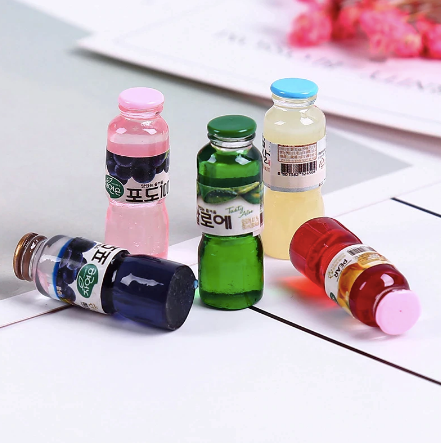 1:12 2PC Miniature Chinese Fruit Juice Bottle