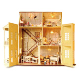 Miniature Wood DollHouse Kit w/ furniture DIY