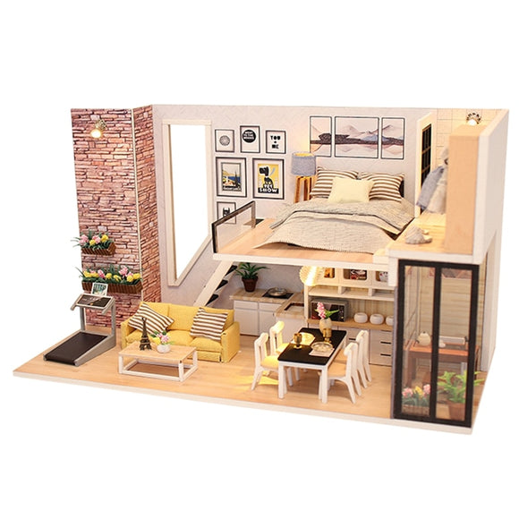 Modern Miniature Dollhouse DIY Kit