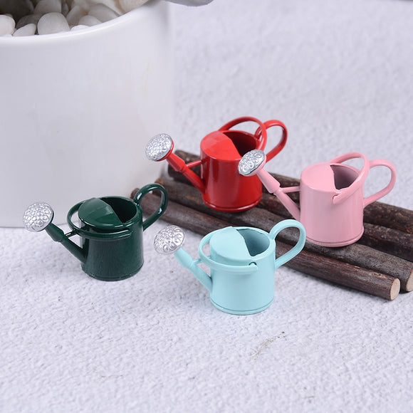 1/12 Metal Watering Can Garden Miniature