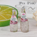 2pcs Chia Seed Fruit Drink Bottles