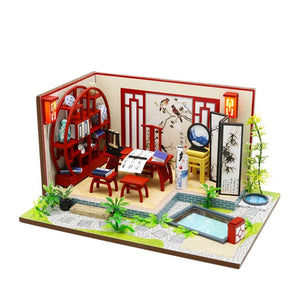 DIY Wooden Oriental Miniature Dollhouse
