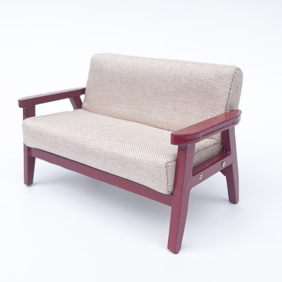 1:12 Miniature Wood Sofa