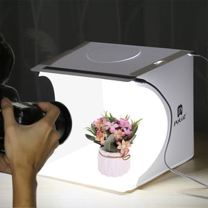 Miniature Photo Studio Light Box w/LED Lights & Kit 6 Color Backdrops