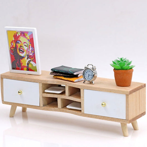 1:12 Miniature TV Cabinet Dolls
