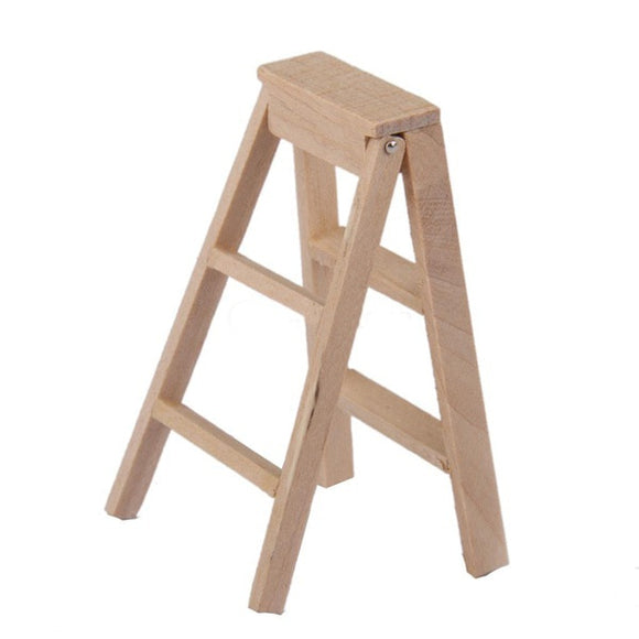 1:12 Miniature Wooden Ladder