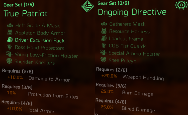Gear Set Farming