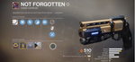 "Legendary Hand Cannon - ""Not Forgotten"""