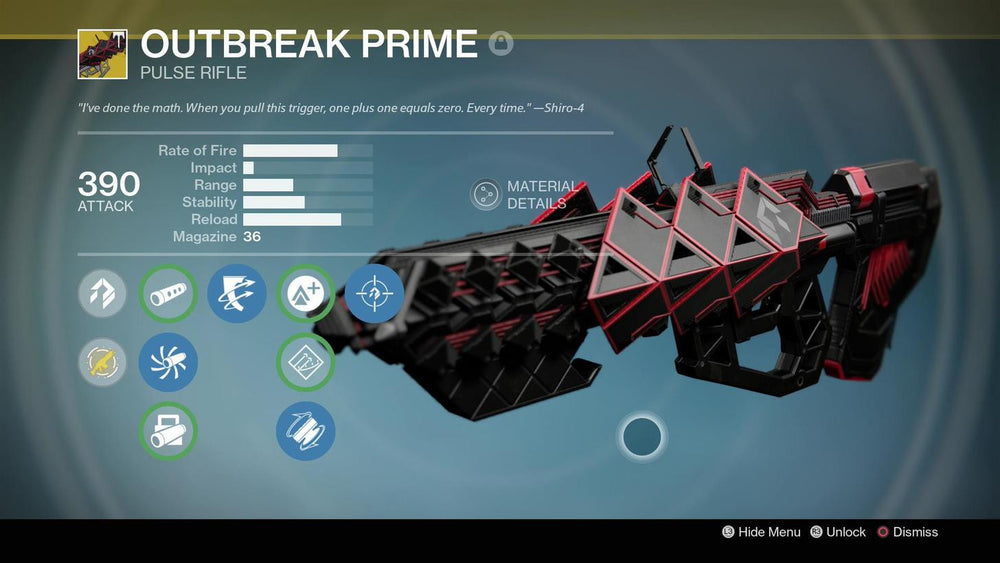 Exotic Pulse Rifle - Outbreak Prime
