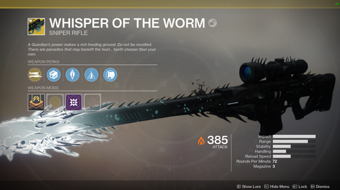 "Exotic Sniper - ""Whisper of the Worm"""
