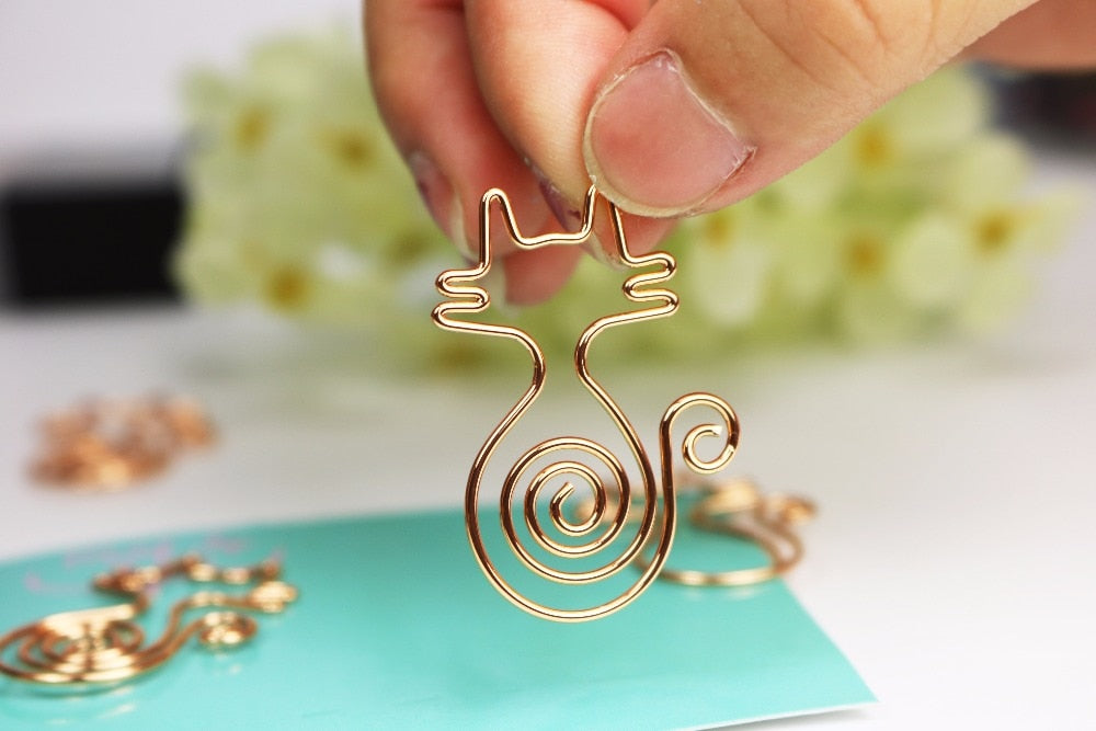 Kitty Cat Shaped Paper Clips