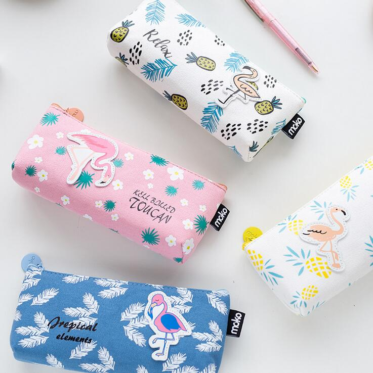 Pencil Cases - Flamingo Lingo Pencil Bags