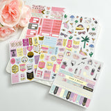 KSCRAFT Happy Unicorn Foil Gold Paper Planner Stickers