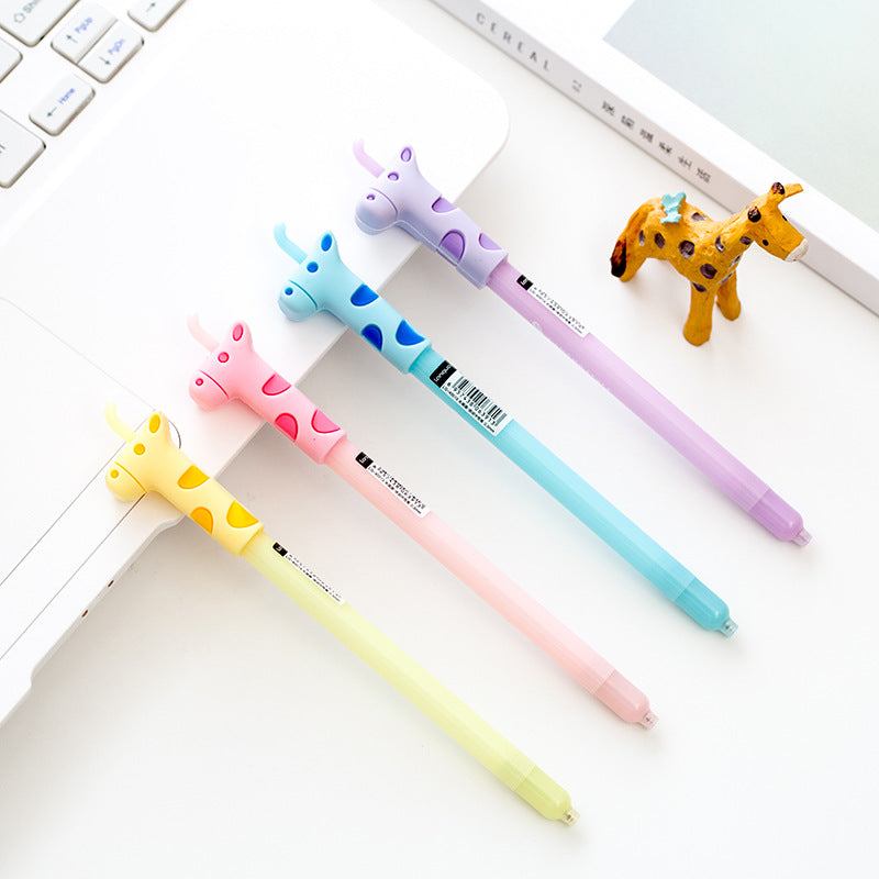 Gel Pens - Giraffe Friends 0.5mm Writing Pen (4-Piece)