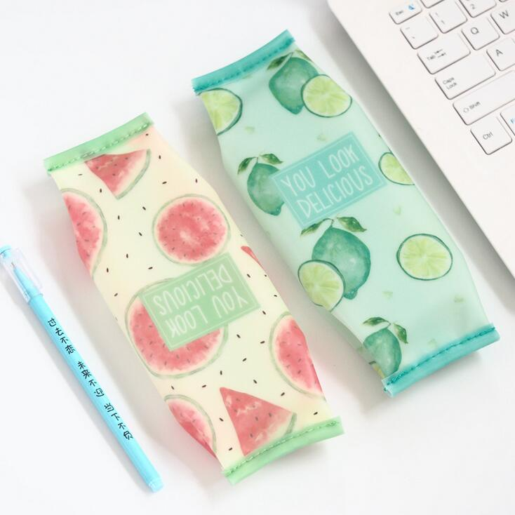 Pencil Cases - Watercolor Fruits Pencil Bags