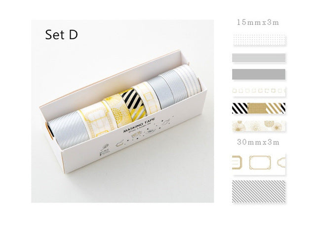 Washi Tapes - SIlver & Gold Washi Tape Set