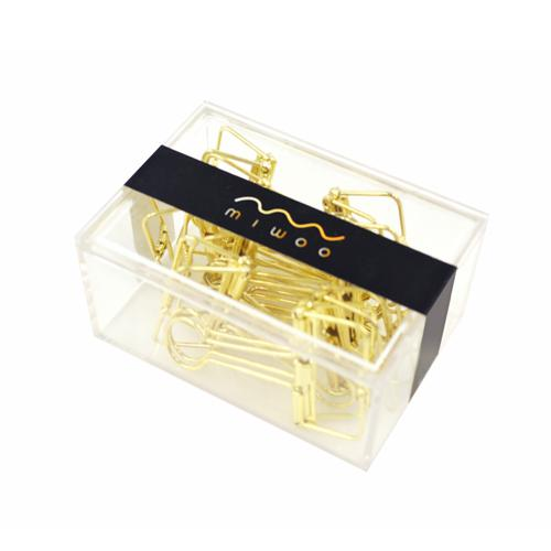 Paperclips - Miwoo Golden Paper Clips