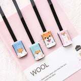 Bookmarks - Cute Little Doggy Satin Bow Bookmark