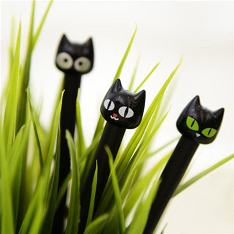 Cute Kitty Cat Pens in Black