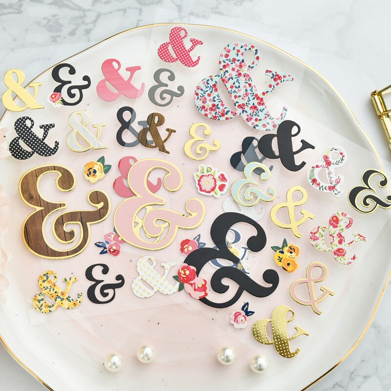KSCRAFT Cute 3D Die Cut Ampersand Stickers