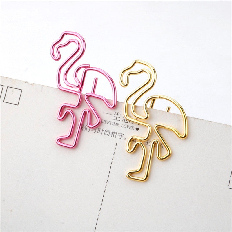 Diary Bookmark Clips - Flamingo Paper Clips