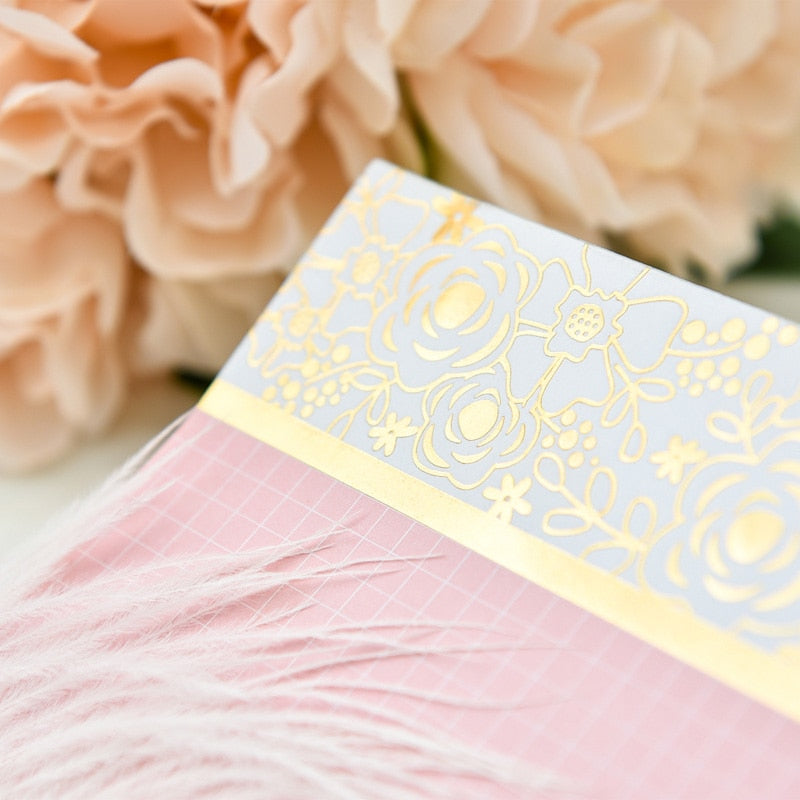 KSCRAFT 50-pc Foil Flowers Pink Notepad