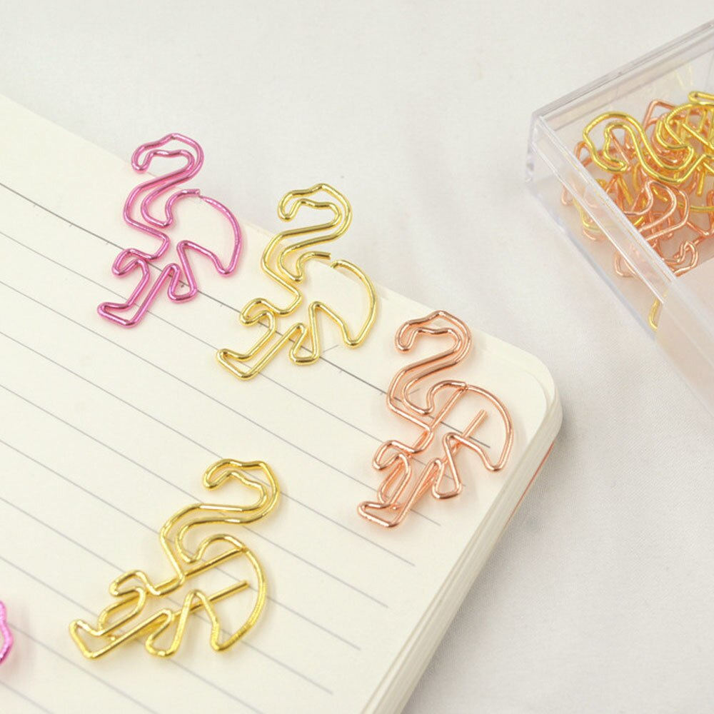 Golden Flamingo Paper Clips