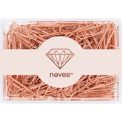 Paperclips - Never Say Never Rose Gold Paper Clips