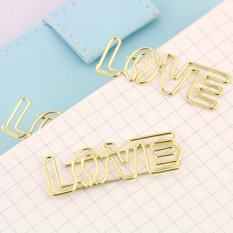Paperclips - Gold Love Paper Clip