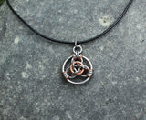 Lucky Coin Necklace:  Lucky Coin Pendant, Stainless Steel and Copper Lucky Coin -  - 1